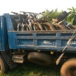 Challenge Ruwenzori Mountain-Bike Solidario el camión que transporta las bicis